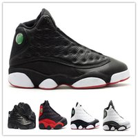 Wholesale outdoor shoes cat resale online - 13 Playoff Flint Barons Bred Chicago Black Cat Basketball Shoes Cheap s Mens Sports Shoes Outdoor Athletics Boots Trainers Footwear Box