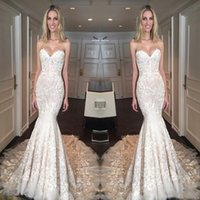 Wholesale sexy wedding dresses online - Beautiful Lace Applique Sexy Mermaid Wedding Dresses Sexy Lace Up Back Long Vestidos de Mariee Bridal Gowns Custom Garden