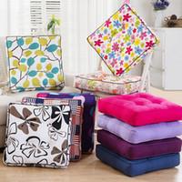 Wholesale kids neck cushion resale online - New Fashion Home Decor Chair Cushion Mat Kids Pad Colors Thicken Seat Cushion Tatami Mat Square Floor Cushions Throw Pillows