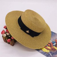 chapeaux à larges bords achat en gros de-Little Bee Chapeaux Cap Femmes Mode Chapeau Brim large plage d'été Chapeau Adjustable Cap New Mode Hot Vente Herbe Hat Top Haute Qualité