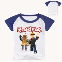 Wholesale baby fashion games for sale - Group buy Roblox D Printed T Shirt Summer Short Sleeve Clothes Children Game T shirt Girls Cartoon Tops Tees Baby Girls Boys Shirt