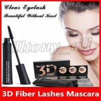 fiber maskara 2'li toptan satış-Sıcak Göz Makyajı 1030 sürüm 3D Fiber Kirpikler Su Geçirmez Çift Maskara Yüksek Kalite Ile 2 adet Set Kirpik