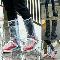 cubre zapatos para hombres al por mayor-Hombres Mujeres reutilizable cubierta de la lluvia de calzado impermeable Bota Botas Overshoes protector