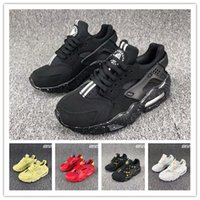Wholesale huarache kids shoes infants boys girl kids designer shoes classic electric lamp Black White sneakers trainers Hiking jogging playing cheap