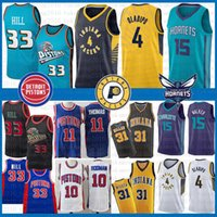 31 baloncesto al por mayor-NCAA Victor 4 Oladipo Reggie 31 Miller Isiah Jersey Grant 33 Hill 11 Thomas Dennis 10 Rodman Kemba 15 Jerseys de baloncesto de la Universidad Walker