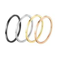 zeigefingerringe für frauen großhandel-Edelstahl Dünne Gold Schmuck Mode Stil Geschenk Mann Band Ring Design Frauen Schwanz Zeigefinger Ring