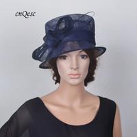 ee2283a12d4 Navy blue Elegant small sinamay hat Royal wedding hat bridal fascinator w  ostrich spine for Kentucky Derby. Supplier  gongqiuli