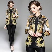 Wholesale womens flowered jackets resale online - 2019 Spring New Fashion Floral Print Slim Fit Womens Designer Jackets Windbreaker Coat Cardigan Streetwear Luxury Jacket Zipper Size M XL