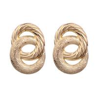 старинные рождественские подарки оптовых-Fashion Metal stud Earrings For Women Geometric Wedding Party Vintage gold colour Christmas Gifts earring Bohemian Bijoux