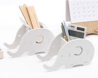 telefones de escritório venda por atacado-Elefante diy escritório desktop caixa de armazenamento caneta titular rack de telefone titular do desktop diversos artigos de papelaria organizador de armazenamento