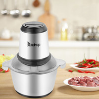 Wholesale blade s for sale - Group buy Stainless Steel Electric Food Processor Meat Grinder Mixer with S Shape Dual Blades L Capacity and Binaural Handle for Meat Vegetables