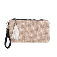 bayan fermuarlı çanta toptan satış-MOLAVE Çanta fashion2019 Lady Trend Dokuma için Moda çanta Püskül çanta Taşınabilir Fermuar Debriyaj Çanta Cep Telefonu paketleri 9515