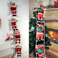 papai noel decorações de árvore de natal venda por atacado-Pingente de Natal Escada de Santa Claus boneca Decorações da árvore de Ano Novo Gota Ornamentos