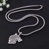 Wholesale wolf pendant men for sale - Group buy Skyrim Viking Wolf Head Amulet Pendant Necklace Vintage Norse Nordic Stainless Steel Chain Necklaces Jewelry Gift for Men
