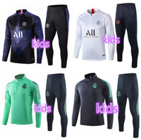 trainingsanzüge für kinder groihandel-Paris Kids Fußball-Trainingsnazug Kit Real Madrid Enfant 2020 2019 Trainingsanzug Marseille Trainings Argelia survêtement Kind Fußball