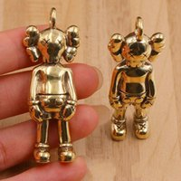 Wholesale puppets for for sale - Group buy Pure copper Original companion personality tide play kaws doll bear key pendant for kids gift for girls