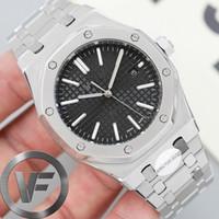 reloj mecanico de zafiro al por mayor-VFactory zafiro para hombre del reloj 41mm 2813 Diseñador Movimiento automático de los hombres mecánicos de la moda Maestro relojes Royal Oak 15400 de pulsera de lujo