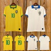 maillots de foot américains achat en gros de-2019 Brésil maillot équipe de football maillot hommes maillot VINICIUS FIRMINO maillot de football féminin Coupe du Monde football personnalisé enfants shirt kit