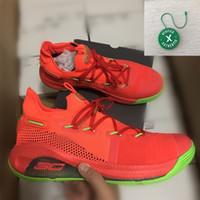melhores tênis de basquete venda por atacado-2019 Roaracle Currys 6 Sapatos de Basquete Splash Nação Dub Partido Melhor Steph Tênis de Treinamento Esportivo Sapatos Com Caixa Stockx Tag