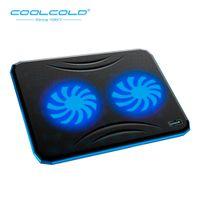 soğutma bazlı dizüstü bilgisayar toptan satış-COOLCOLD Süper Sessiz USB Laptop Fan Soğutucu Soğutma Pad Taban Notebook Soğutucu Bilgisayar USB Fan Cooling Pad 15.6inch Dizüstü Standı