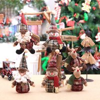 Wholesale doll toys color for sale - Group buy Xmas Festive Ornament Cute Cartoon Doll Toys Christmas Tree Decoration CM Cloth Hanging Dolls Color Optional SH190918