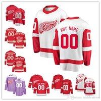 eishockey-trikot-marken groihandel-2019 Custom Mens Frauen Kleinkinder Detroit Red Wings Jersey Eishockey Jersey Fanatics Branded Tyler Bertuzzi Gordie Howe Niklas Kronwall
