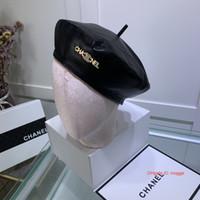 chapéu francês do beanie da boina venda por atacado-Bonito Inglaterra britânica Felt Beret Hat Chapéus para mulheres Lady Francês Artista Vermelho Preto Khaki Boné Bow Feminino Boinas Gorros 09057