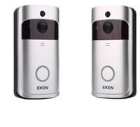 Wholesale video phone intercom doorbell resale online - 2019 NEW EKEN V5 Smart Video Intercom Video Door Phone Door Bell WIFI Doorbell Camera For Home IR Alarm Wireless Security Camera