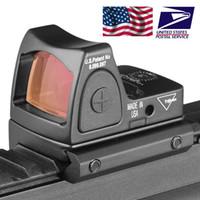 escopo ponto venda por atacado-2018 Nova Trijicon Estilo Reflex tático ajustável Scope Red Dot Sight para rifle Caça Tiro