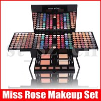 Wholesale best matte makeup palette resale online - MISS ROSE Piano Shaped Makeup Eyeshadow Palette Kits Color Complete Makeup Set Matte Shimmer Blush Powder Best Christmas Gift