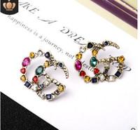 ingrosso jewlery 14k-2019 Numero di perle ciondola la catena famosa marca designer gioielli di lusso gioielli Brincos orecchini orecchini per Wom 1314