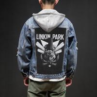 projeto remendo dos homens venda por atacado-Loja de Bloodhoof Linkin Park Rock And Roll Morte Pesado Hardcore Estilo Punk Patch Designs Denim Jeans mens Jaquetas E Casacos