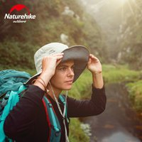 ingrosso deposito del cappello-Naturehike UPF50 + Cappuccio da pesca Quick Drying Hat Sunblock Pieghevole Double Sides Portatile Storage Camping Outdoor