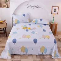 Wholesale bedding fashion bedsheet for sale - Group buy Colorful Flower Cotton Flat Sheets Twin Full Queen King Size Bed Sheet and Pillowcases Cheap Fashion Kids Bed Decor New Arrival