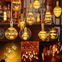 ingrosso filamento della lampada-E27 3W Edison lampada della lampadina d'antiquariato di retro stile luminose a incandescenza LED Decorazioni di Natale Festival del partito del LED decorazione di illuminazione