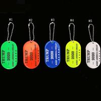 anahtarlık etiketleri toptan satış-2020 Trump Anahtarlık Yansıtıcı Işık Satmak Iyi Anahtarlık PVC Asılı Etiketi Su Geçirmez Anahtarlıklar Çanta Dekorasyon Kolye MMA2432