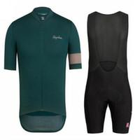 ingrosso team jersey nero-2019 Pro team Rapha Maglia da ciclismo Ropa ciclismo bici da corsa abbigliamento da corsa abbigliamento da ciclismo Estate manica corta set k5888