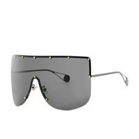 kadın maske kapağı toptan satış-2019 Boy Kalkanı Güneş Gözlüğü Visor Erkek Kadın Bir Peice Güneşli Rüzgar Geçirmez Maske Güneş Gözlükleri Flat Top Hood Gözlüğü güneş gözlüğü FML