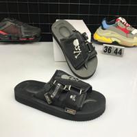ingrosso pantofole di seta-2019 Nuovo arrivato Masterminds di alta qualità x Suicoke clotx Summer Trip Fest Slip di sandalo nero di seta Pantofole taglia 36-44 con scatola