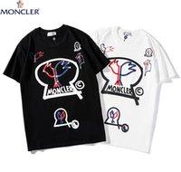 белая хлопковая рубашка для мужчин оптовых-Модные футболки для мужчин Хип-хоп Хлопок Мужская одежда Футболка с круглым воротом миллиардер Мужские топы Лето с коротким рукавом черная белая футболка
