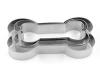 Wholesale cookies dogs resale online - 3Pcs Set Cookie Cutter bakeware Dog Bone shape cookies Stainless Steel Biscuit mold DIY Baking kitchen cookie tools