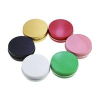 tapas de tarro rosa al por mayor-50 ml 50 g Contenedores de Latas de Aluminio Contenedor de Tornillo Redondo Contenedores Tarros Tarros de Almacenamiento de Metal Latas Latas de Comida Negro Rosa Verde Dorado Blanco