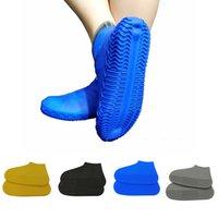 camping zapatos al aire libre al por mayor-1 Par Antideslizante Senderismo Estiramiento Elástico Impermeable Escalada Botas de Lluvia Protector de Camping de Silicona Cubiertas de Zapatos Sólido Al Aire Libre