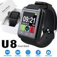 Wholesale red cell watch phone online – U8 Smart Watch Touch Screen Wrist Watches with Sleeping Monitor for iPhone Samsung S8 Android IOS Cell Phone