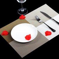 blocs de bloc achat en gros de-Napperons Tables de Repas Lieu Color Block Block Table Tapis Pad Vaisselle Ustensile Restaurant Catering Accessoires Fournitures SSA197