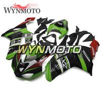 motosiklet için abs kit toptan satış-Kawasaki ZX-6R Ninja Için tam Fairing Kiti 2007 2008 ZX-6R 07 08 Enjeksiyon ABS Plastik Motosiklet Vücut Kitleri ZX6R 07-08 Elf Yeşil Siyah Hulls