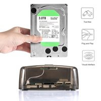 Wholesale sata adapter 3.5 resale online - Transparent Inch Universal External Hard Drive Base for SATA IDE Serial Port New Arrival