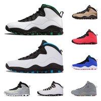 atletik ayakkabılar camo toptan satış-10 10s geri erkekler atletik spor ayakkabı boyutu 8-13 2006 Serin Grey erkek basketbol ayakkabıları Çöl Kamuflaj Seattle Çimento Class değilim