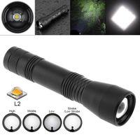 linterna recargable con zoom al por mayor-CT1 L2 T6 LED Linterna Antorcha 1000LM Ajustable 5 modos Zoomable Mini Torch Ligh 18650 batería recargable CAR
