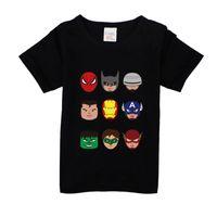 ingrosso maglietta bambino di batman-12 M-8 anni Toddler ragazzi Batman maglietta supereroe nuova estate cotone bambini bambini pantaloncini neonati maschi ragazze top tee maglietta